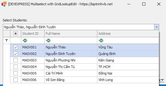 [DEVEXPRESS] Hướng dẫn sử dụng chọn nhiều dòng trên GridLookupEdit C#
