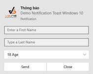 [DEVEXPRESS] Hướng dẫn thêm Button và Control vào Toast Notification Manager C#