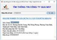 Lấy thông tin chi tiết website (file get content hay CURL) trong Visual Basic . NET - Tìm kiếm thông tin doanh nghiệp qua mã số thuế
