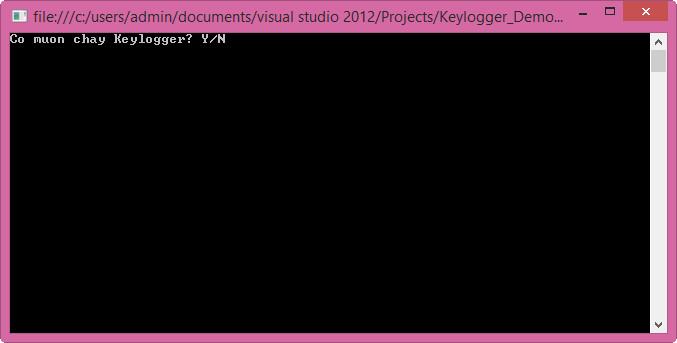 Viết 1 Keylogger đơn giản