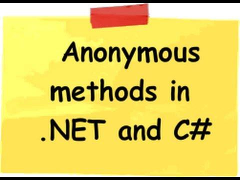 [C#] Tìm hiểu về Anonymous method trong lập trình C#