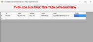 Lập trình ứng dụng thêm - xóa - sửa trực tiếp trên DataGridview (Crub database on DataGridview use Cshap)