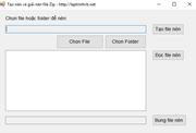 Viết ứng dụng nén file hoặc folder thành file ZIP (Create file or folder to zip file)