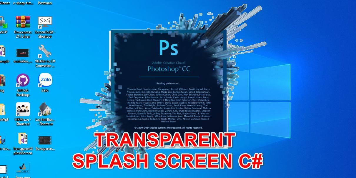 [C#] Hướng dẫn thiết kế form loading splash screen transparent winform