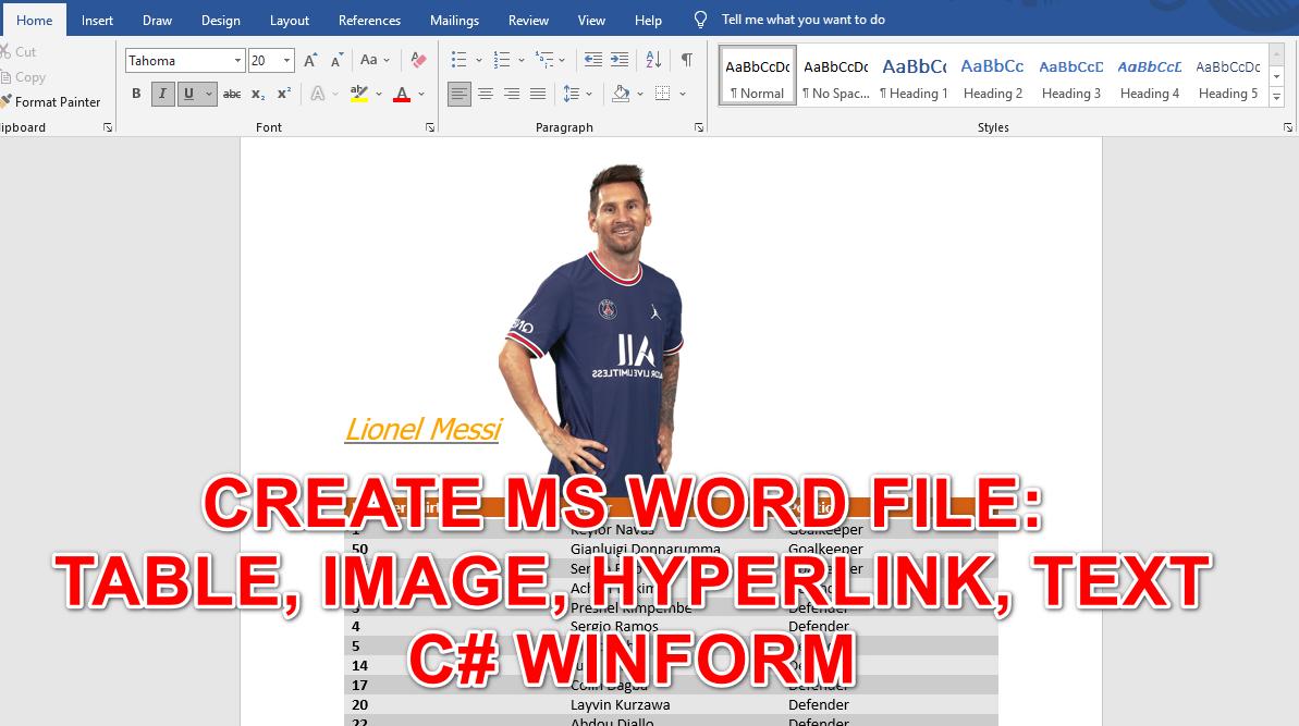 [C#] Hướng dẫn tạo file Microsoft Word paragraph, table, image, hyperlink sử dụng DocX