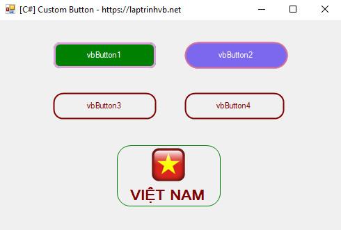 [C#] Hướng dẫn custom Button trên Winform