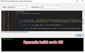 [C#] Hướng dẫn build code động xuất file exe trên Winform