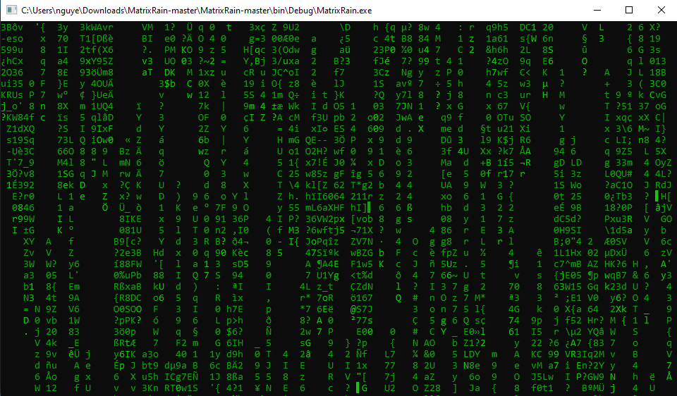 [JAVSCRIPT] Source code Matrix Rain trên Website