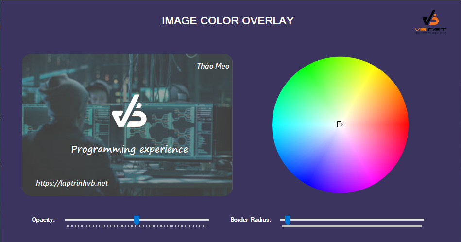 [C#] Sử dụng control PictureBox Color Overlay Winform