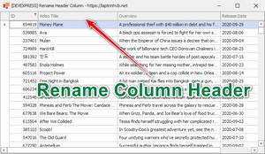 [DEVEXPRESS] Hướng dẫn đổi tên caption tiêu đề header column trên GridView