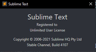[SOFTWARE] Actived Sublime Text 4 version 4107