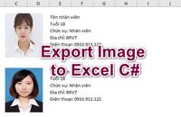 [C#] Hướng dẫn xuất danh sách hình ảnh nhân viên ra file Excel